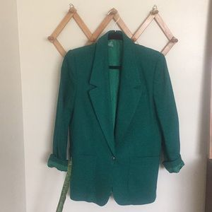 VINTAGE ANDRE BARREAU Wool Oversized Jewel Blazer